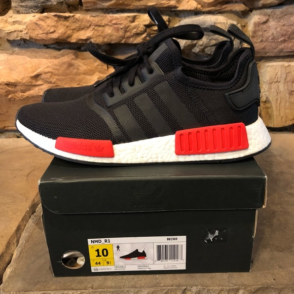 158598a56fdc adidas Other - Adidas NMD - Black Red - Mens Size 10